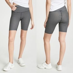 LNA Cher Checkered Print Bike Shorts